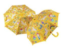 Barnparaply - Regnbågslandet