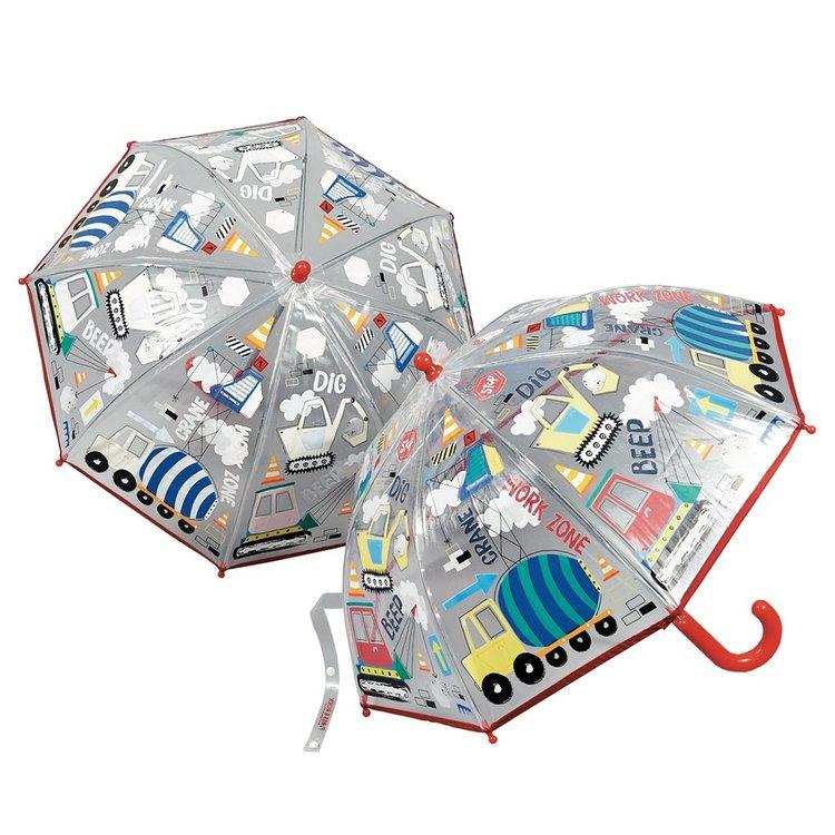 Barnparaply färgskiftande med maskiner