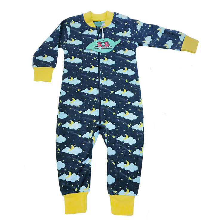 Pyjamas för baby i ekologisk bomull - Stjärnhimmel