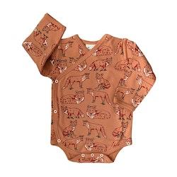 Babykläder omlottbody - Räv 0-18mån