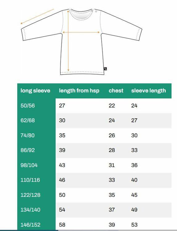 Långärmad tröja med volang - Edelwiess 86-152cl