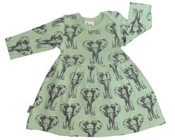 Babyklänning Elefanter 3-12månader
