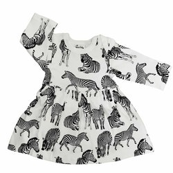 Babyklänning Zebra - 3-12mån