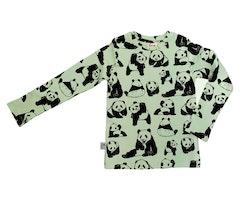 Barntröja långärmad grön- Pandor - 1-8år