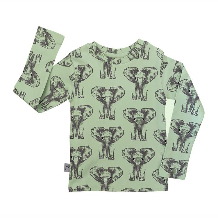 Barntröja med långärm - Elefanter 1-8år