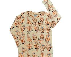 T-shirt barn långärmad - Apor 1-8år