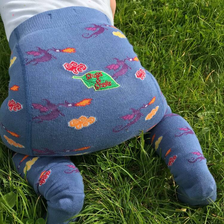 Barnstrumpbyxor med anti-slip - Drakar nyfödd-6år