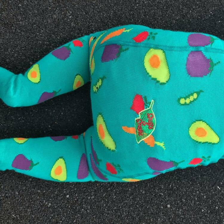 Barnstrumpbyxor med anti-slip - Grönsaker nyfödd-6år