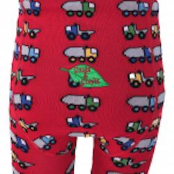 Ekologiska barnstrumpbyxor med lastbilar 0-4år