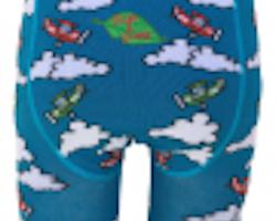Flygplan! Ekologiska barnstrumpbyxor med halkskydd 0-4år
