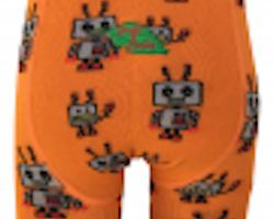 Robot! Barnstrumpbyxor av ekologisk bomull 0-5år