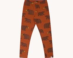 Leggings rostbrun med björnar - 50-140cl