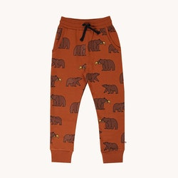 Joggingbyxor för barn rostbrun med grizzly - 86-140cl