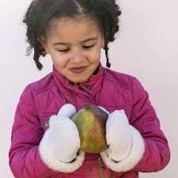 Vantar för barn i lammskinn - Vita 4-6år