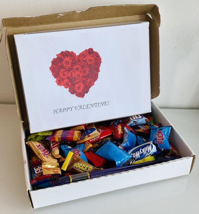 Hjärta blommor box