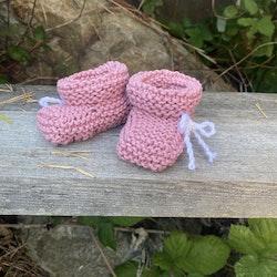 Rosa babyskor i bomull