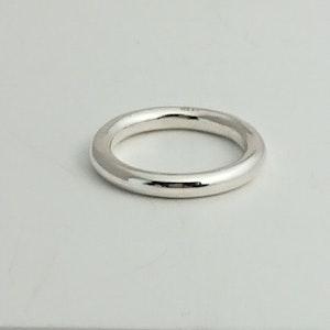 Handgjord silverring Mixa slät 3mm