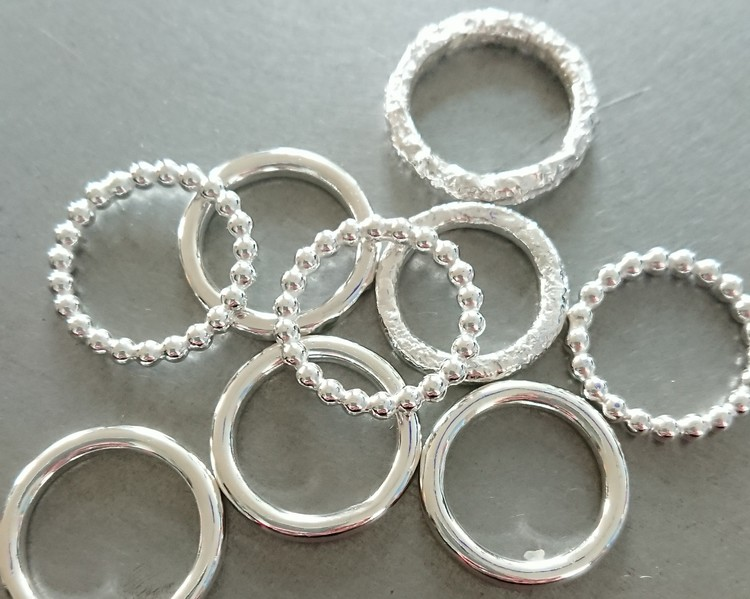 Handgjord silverring Mixa kultråd 3 mm