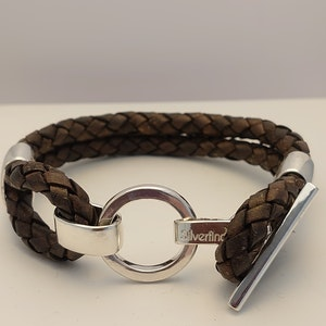 Läderarmband Cirkel