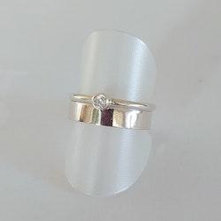 Ring Mixa 2 mm, med cubisk zirkon