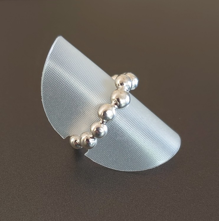 Ring i argentium silver 935
