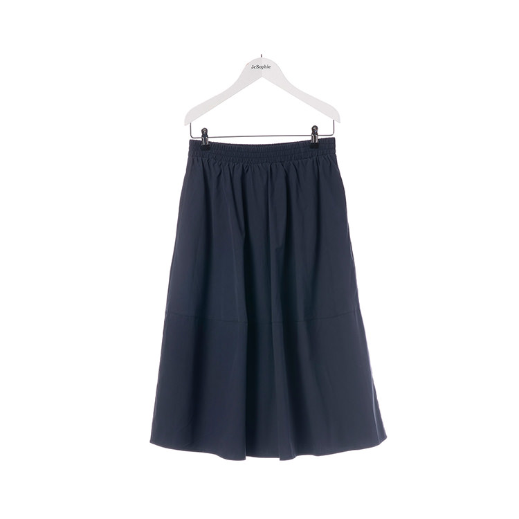 Midnight blue wide skirt for women