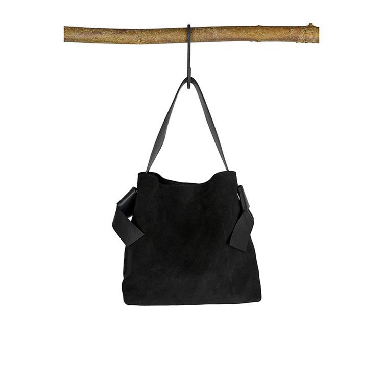 Arron Suede Handbag Black