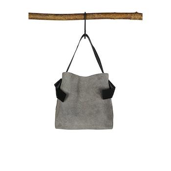 Arron Suede Handbag Grey