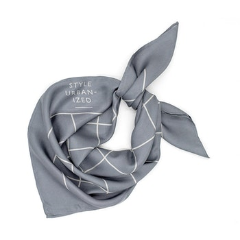 Style Urbanized SoHo Silk Scarf Dark  Grey