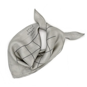 Style Urbanized SoHo Silk Scarf Light Grey