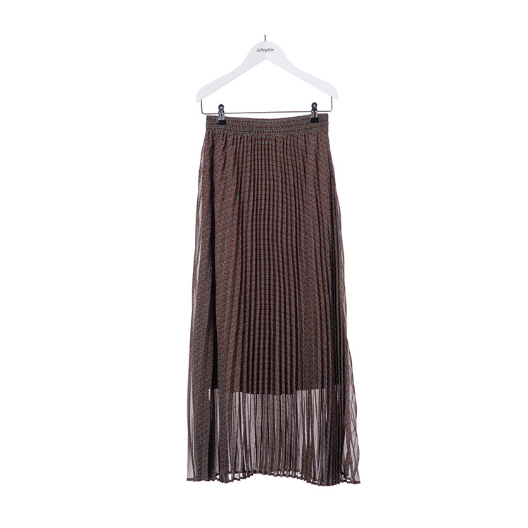 Brown pleated skirt from JcSophie