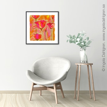 Ingela Dahlgren Happily Art Print