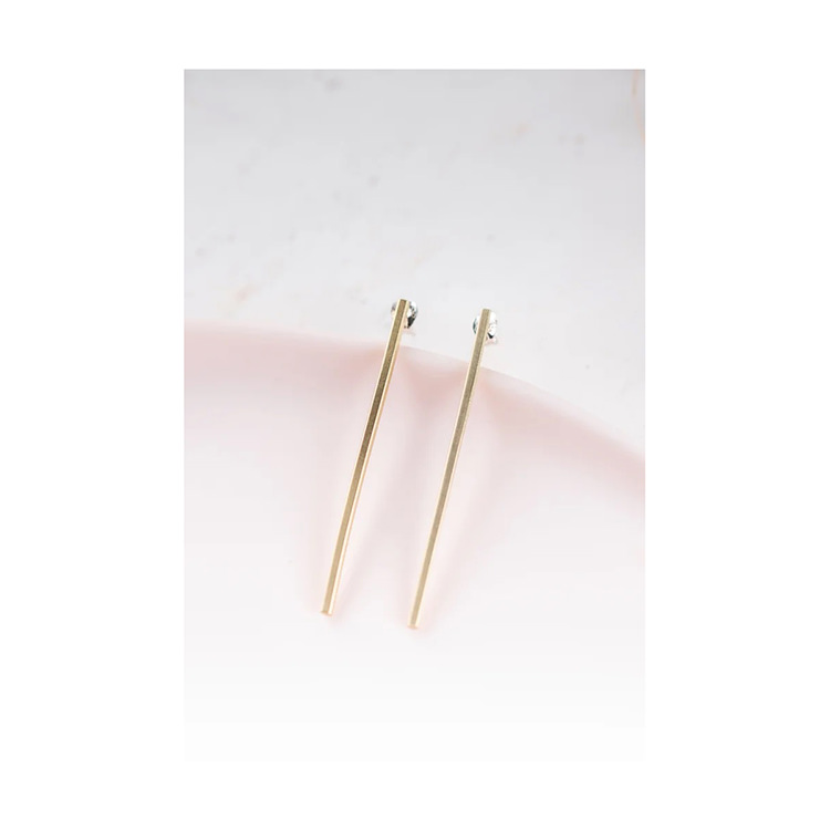 Clare Slim Earrings Brass