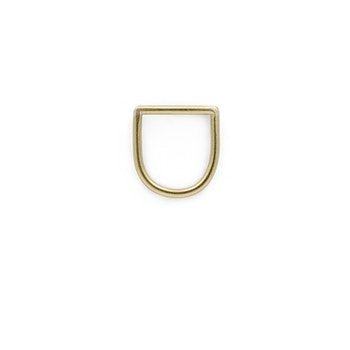 Clare Minimal D Ring Brass