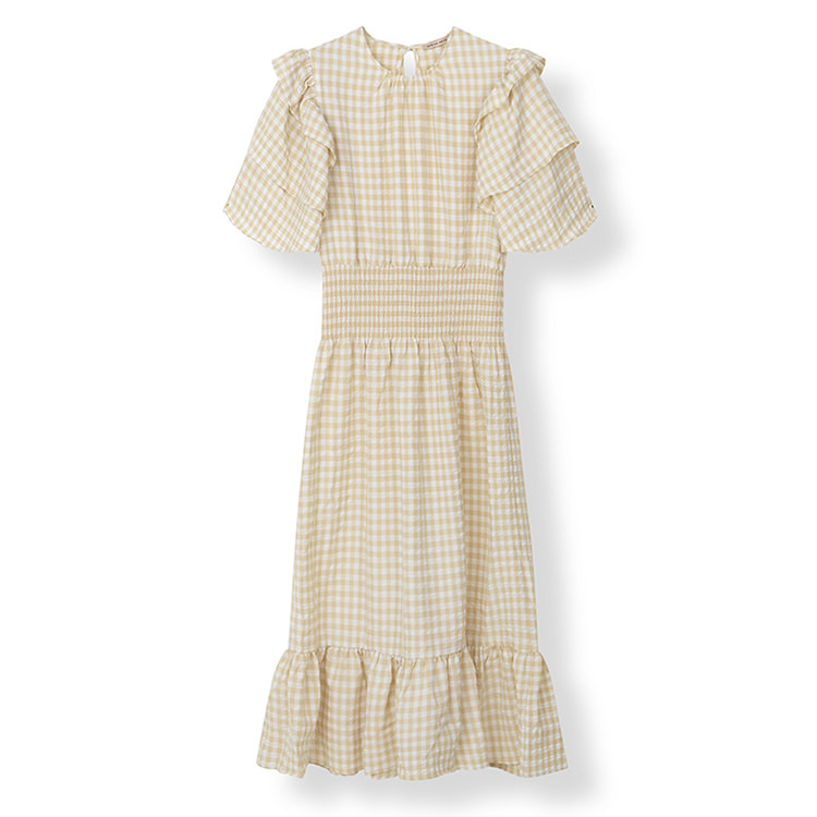 long checkered dress