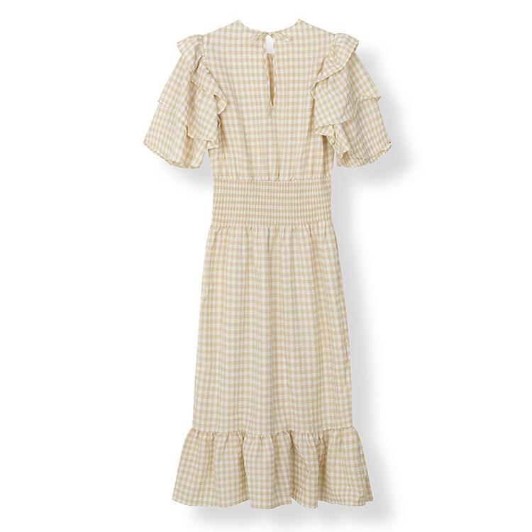 Rutig klänning dam