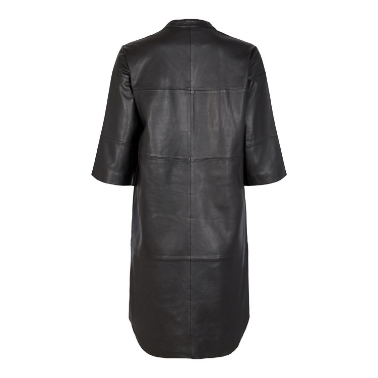 Onstage Collection svart läder klänning