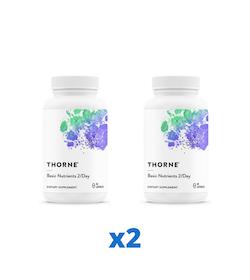 2 x Thorne Basic Nutrients 2/Day, 60 kapslar