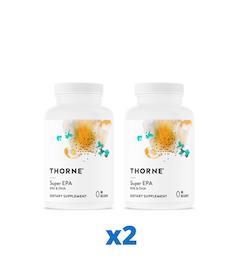 2 x Thorne Super EPA, 90 kapslar
