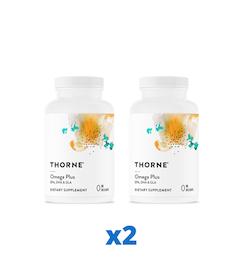 2 x Thorne Omega Plus, 90 kapslar