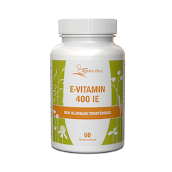 Alpha Plus E-vitamin 400IE, 90 tabletter