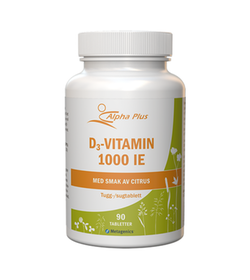 Alpha Plus D3-vitamin 1000 IE, 90 tabletter
