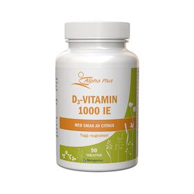 Alpha Plus D3-vitamin 1000 IE, 90 tabletter