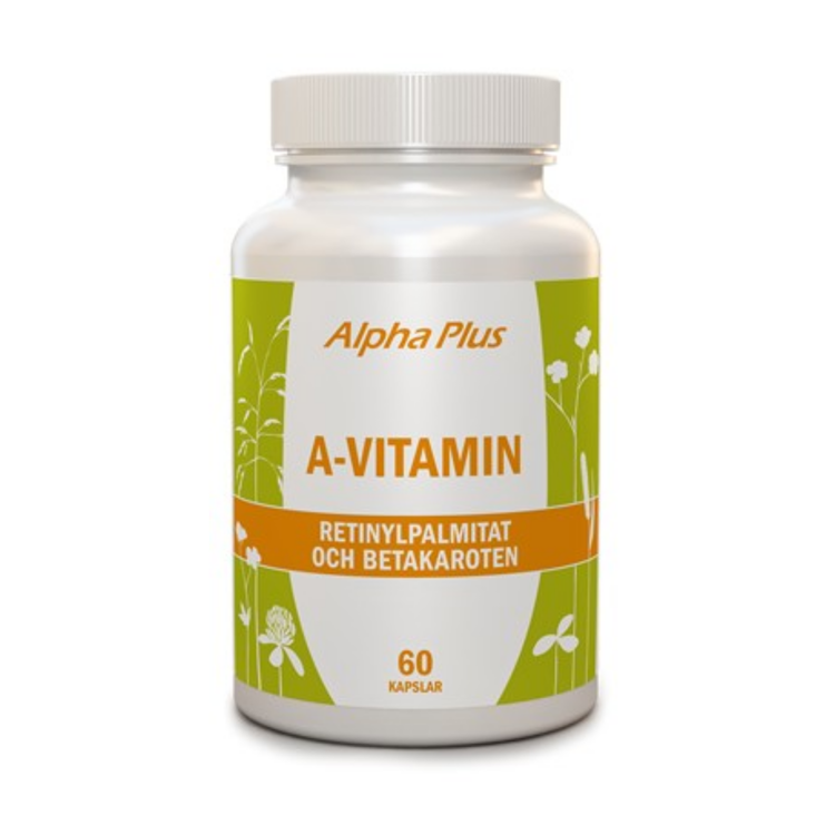 Alpha Plus A-vitamin, 60 kapslar