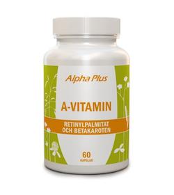 Alpha Plus A-vitamin, 60 kapslar