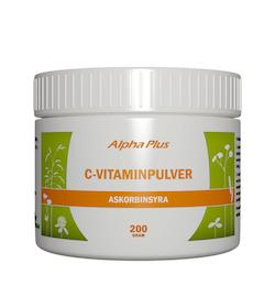 Alpha Plus Askorbinsyra C-vitaminpulver, 200g