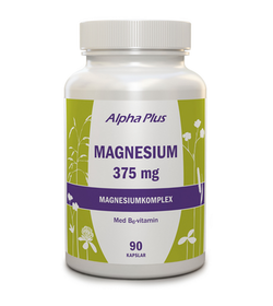 Alpha Plus Magnesium 375mg, 90 kapslar