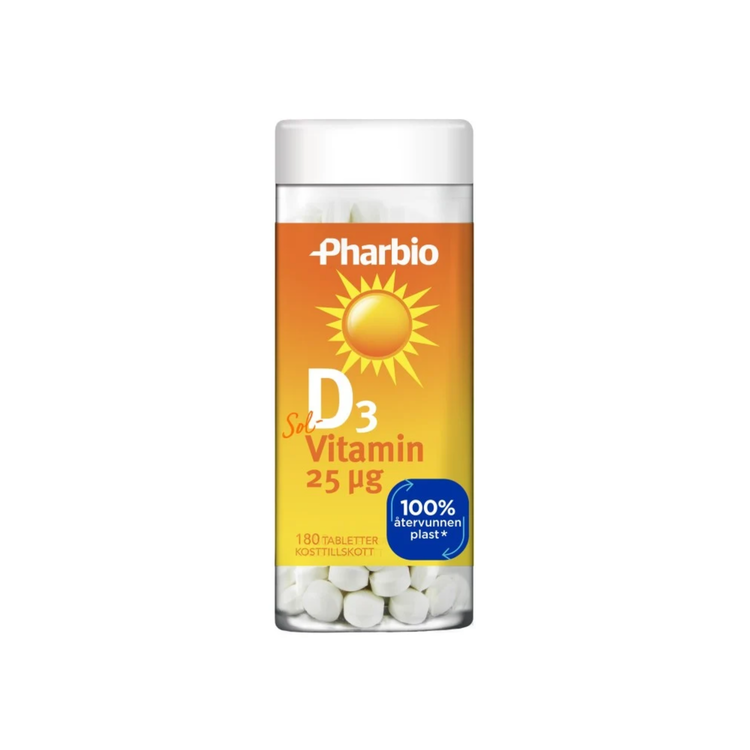 Pharbio D3 Vitamin, 180 tabletter