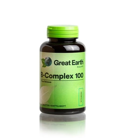 Great Earth B-Complex 100mg, 60 tabletter