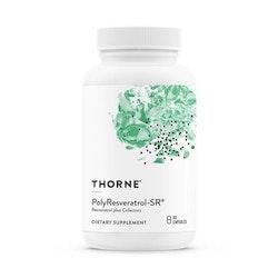 Thorne Poly-Resveratrol-SR, 60 kapslar